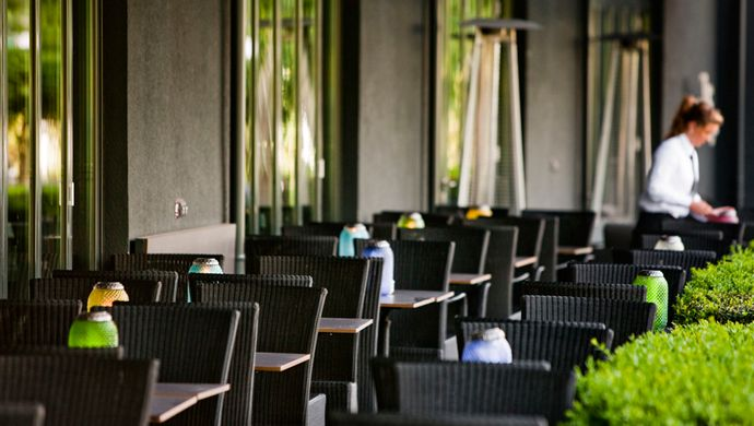 Contract furniture Cane-line. Hotel George Hamburg
