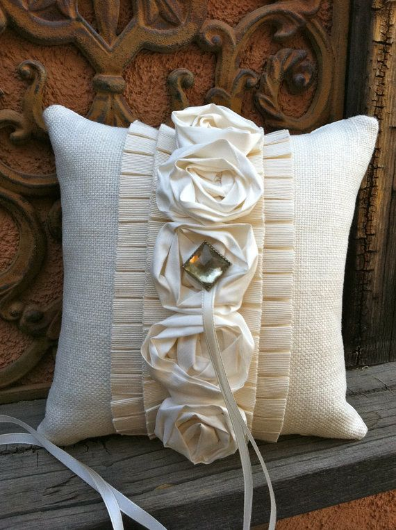 Marchesa Ring Bearer Pillow by sophiemomo on Etsy, $95.00 ❤