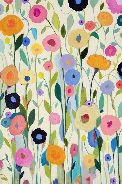 Hidden In France Flower Painting by Carrie Schmitt Screen shot 2014-05-14  at 9.57.11 AM