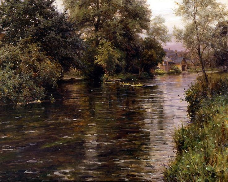 View of a Chateau   Beaumontel   Along the River, Beaumontel-le-Roger    Louis Aston Knight, the American artist born in Paris, was the son ...
