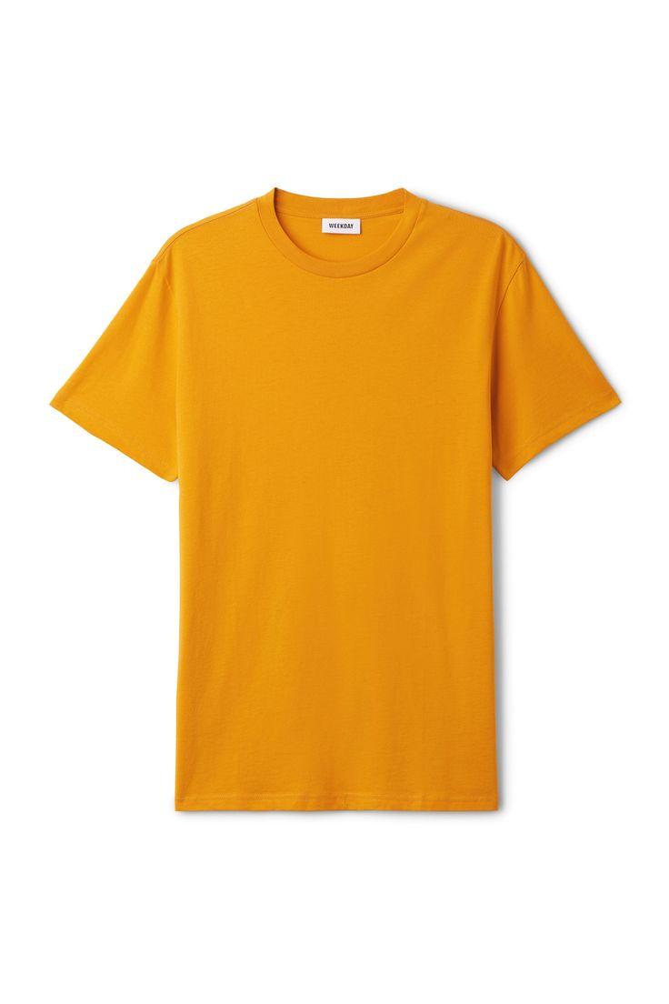 Weekday image 22 of Alan T-shirt in Yellow Reddish