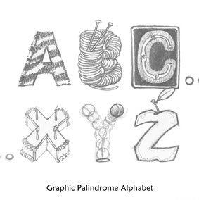 Graphic Palindrome Alphabet