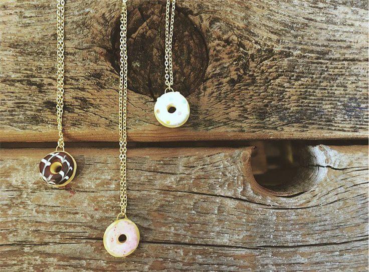 Cutest little donut necklaces!