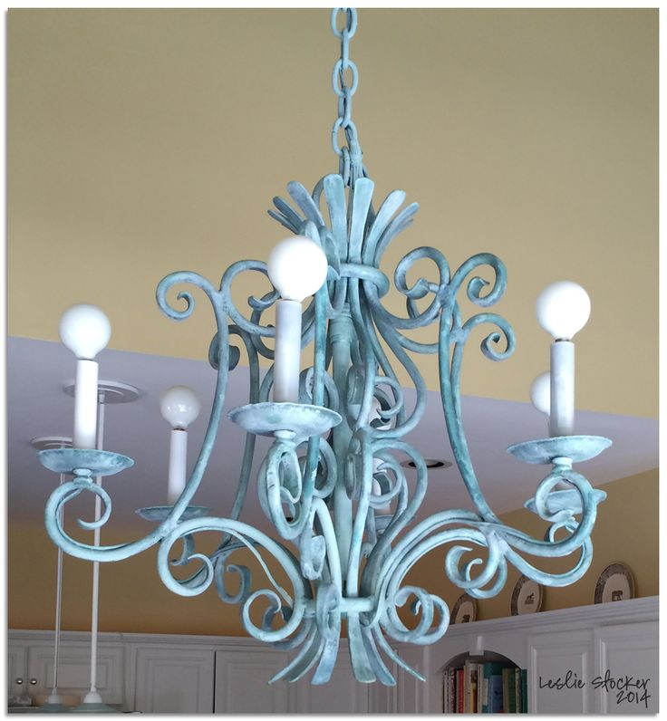 Painting Dining Room Chandelier: 17 Best Images About Chalk Painted Light Fixture On