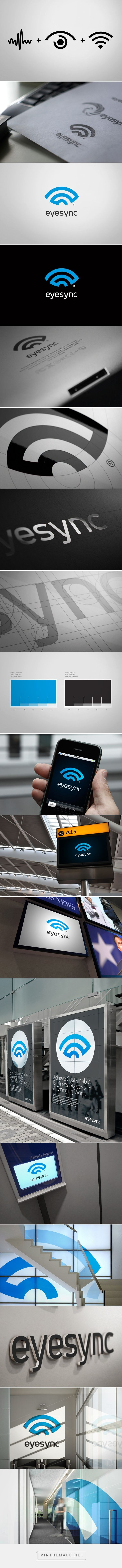 EyeSync Branding on Behance... - a grouped images picture - Pin Them All