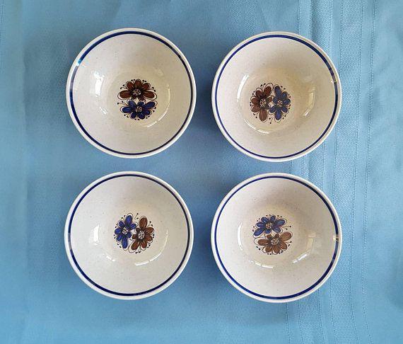 Stavangerflint Florry Bowls set of 4 from Norway, Nils Aarrestad Siversten