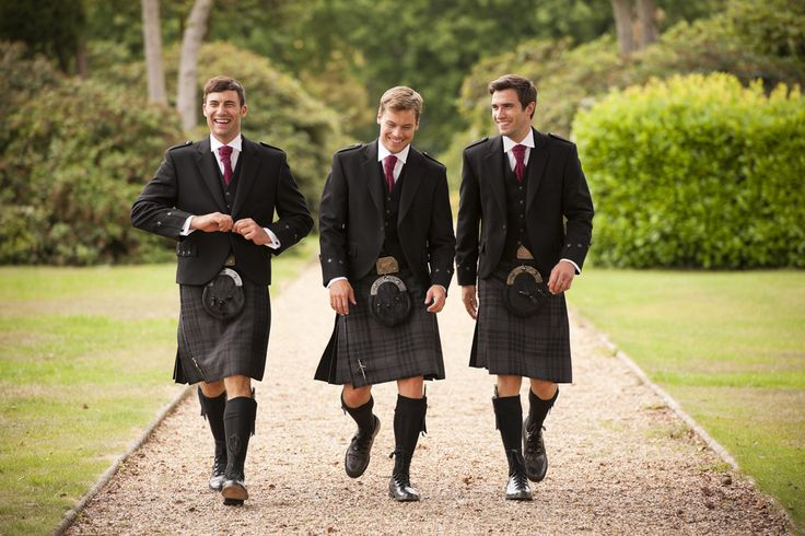 Highland Wear from Cameron Ross - Grey Spirit Kilts with Tweed Argyll Jackets