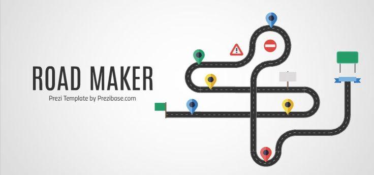 Custom Road Maker Presentation Template | ShareTemplates