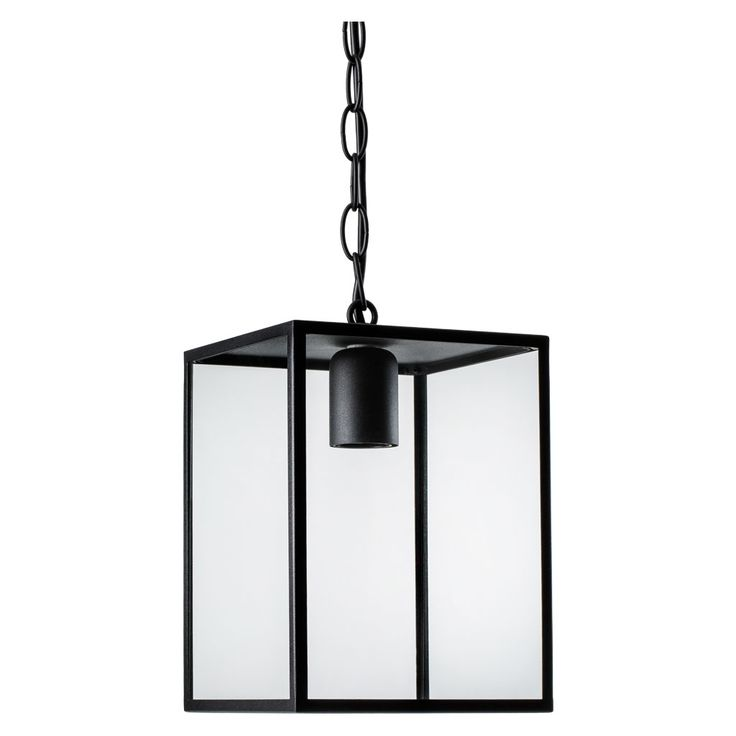 The simple and understated Homefield exterior wall light provides a bright source of direct light whatever the weather. It was designed by James Bassant and made in the UK from steel with clear bevelled glass. The lamp elegantly displays the bulb making this an attractive light to go by a door of a house. It is IP44 rated making it able to withstand contact with water. It requires a 60W E27 bulb (not included). It is available in a black and polished nickel finish.