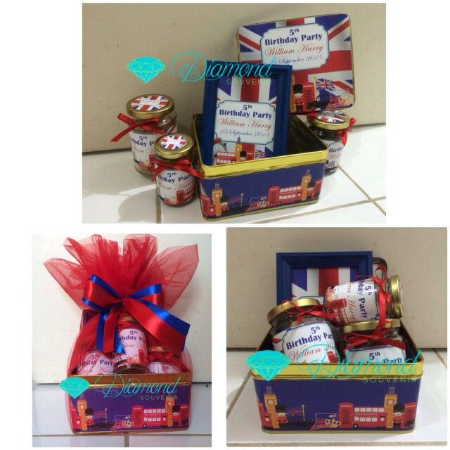 Birthday hampers london theme ... cookies home made by us ...