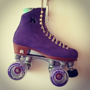 purple roller skate...want!! I grew up PASSIONATE about roller skating. I still skate in my dreams often.