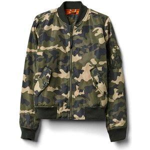 Gap Women Nylon Camo Bomber Jacket