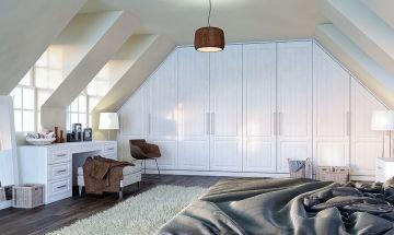 Bella Opengrain White Bedroom Doors - By BA Components
