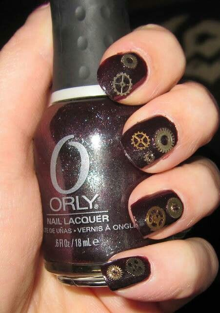 The 25 best steampunk nails ideas on pinterest pretty nails steampunk nail art prinsesfo Images