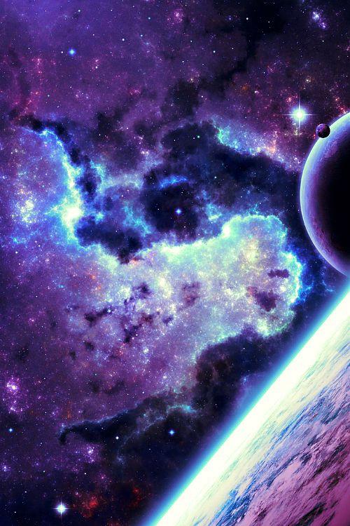 52 best galaxy wallpaper images on pinterest - Blue space galaxy wallpaper ...