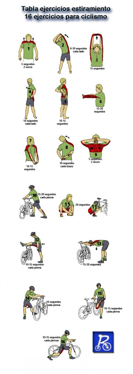 Estiramientos para ciclismo                                                                                                                                                      Más
