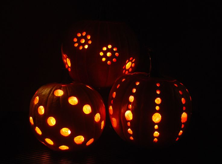 DIY Pumpkin Carving With A Drill. Think I will try this and maybe a few other ideas this year.
