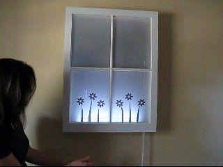 Illuminated Art: Wall Art, Maven Tv, Living Room, Old Windows, Craft Ideas, Illuminated Art, Window Art