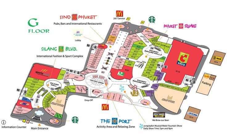 Jungceylong Shooping Center Map Patong Phuket Thailand