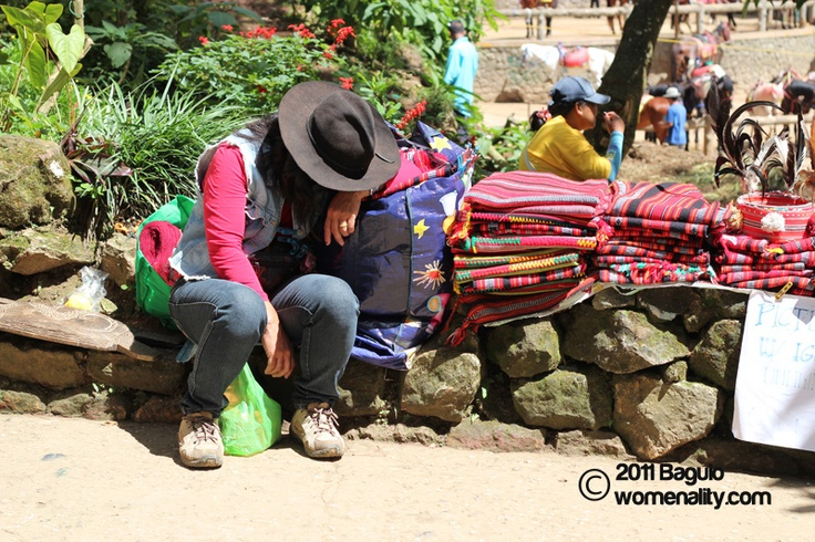 Baguio –  a woman taking an afternoon nap