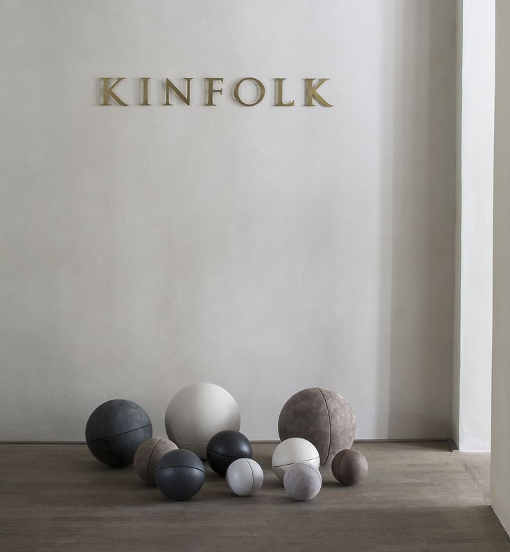 Sørensen Leather spheres at CLOSE CONTACT featured in limited edition photos by Jonas Bjerre-Poulsen @normarchitects at The Kinfolk Gallery in Copenhagen