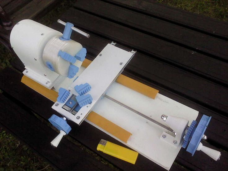 Mini 3D printed Lathe by Branez. 3Dprinting Tools