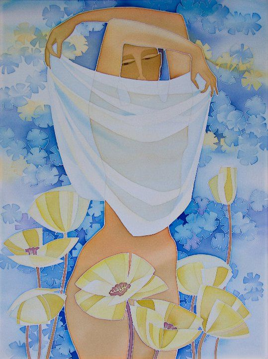 лето на батике) картина Ларисы Лукаш, Полтава