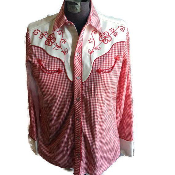 1970's Cowboy Shirt / Western Button Up / by RetroFreshTees, $38.00