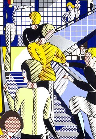 Roy Lichtenstein / Study for Bauhaus Stairway, 1988