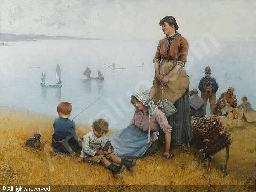 "Detmold Henry Edward,  ""Watching the Fishing Fleet"""