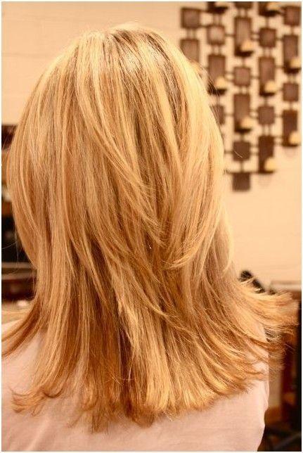 Entrecortado Medio en capas Peinado