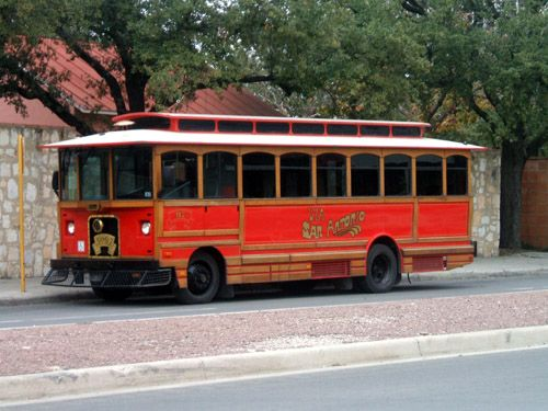 San Antonio Trolley Used Our Senior Pes To Get Around The