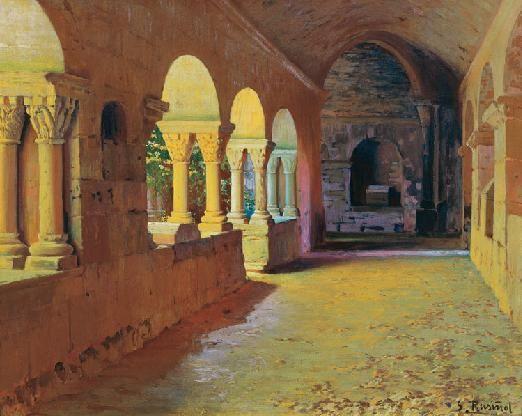 Santiago Rusiñol - El claustro de Sant Benet de Bages