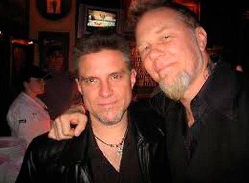 grafika James Hetfield, ron mcgovney, and gitara basowa
