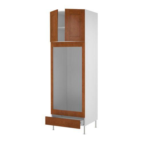 AKURUM High cabinet f built-in oven/micro - birch effect, Ädel medium brown, 30x88x24