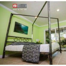 Diamond Canopy Steel Bed Frame