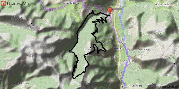 [Pyrénées-Atlantiques] Bielle-Col de la Courade-Cabane d'Ibech Départ mairie de Bielle, suivre le balisage rouge 9 en passant par le plané d'Assiste.  Continuer sur ce balisage ou on débouche sur la piste qui monte au col de la Courade, prendre cette piste jusqu'au terminus : le col ( en passant par les belles granges de Gere).  Sur la gauche, on voit une piste qui s'élève dans le bois, la suivre jusqu'à un petit col ou replat à la sortie de la foret (des abreuvoirs au replat on portera…