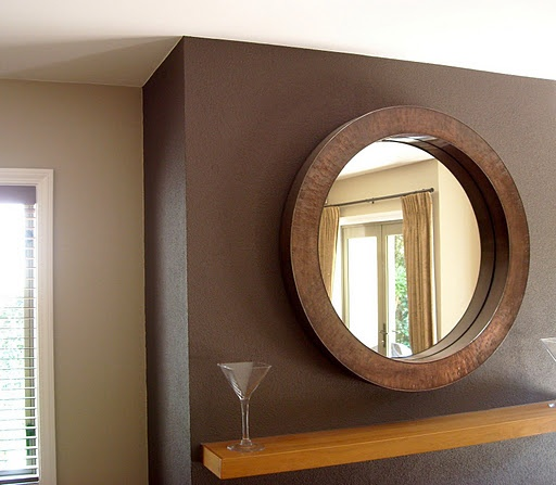 One wall darker brown add some stinceal in the lighter color