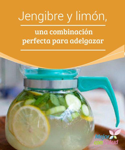 Jengibre y limón, una combinación perfecta para adelgazar  El jengibre y el limón son dos buenos aliados que favorecen la eliminación de toxinas y grasas del organismo, siendo una gran ayuda para perder peso.