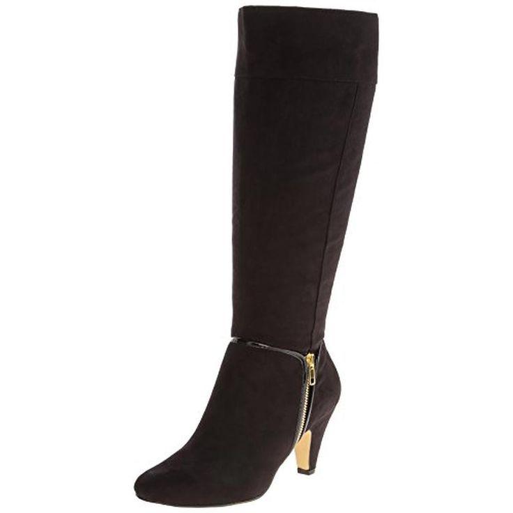 Bella Vita Womens Camy II Faux Suede Zipper Knee-High Boots