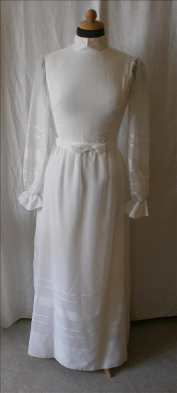brudklänning, bröllopsklänning,vintage,60-tal, st 36, dansk design på Tradera.