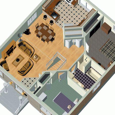 17 best images about planos de casas con 2 dormitorios on ...
