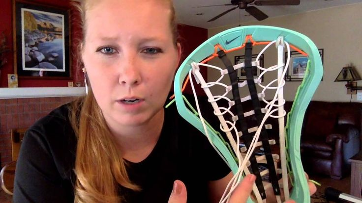 Heres a quick hot-to on women's lacrosse stringing. For any guys or gals who would like to learn!