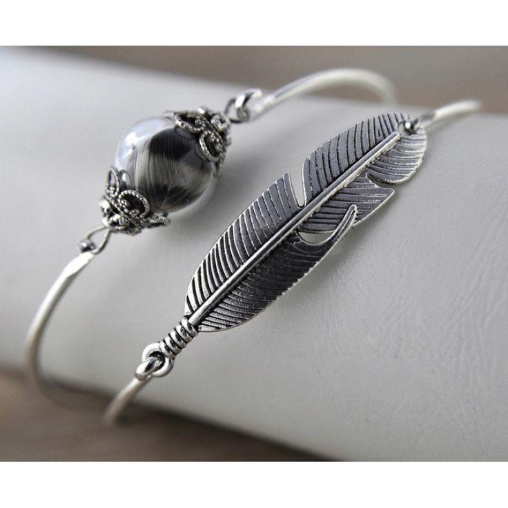 DREAMY Kuş Tüyü Bilezik Seti http://ladymirage.com.tr/bilezik-bileklik.html/dreamy-ku%C5%9F-t%C3%BCy%C3%BC-bilezik-seti-78568459.html #kuştüyü #cam #gümüş #kaplama #bilezik #takı #tasarım #elyapımı #zarif #özgür