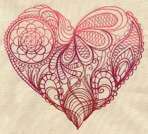 Delantal bordado mendhi corazón por MorningTempest en Etsy