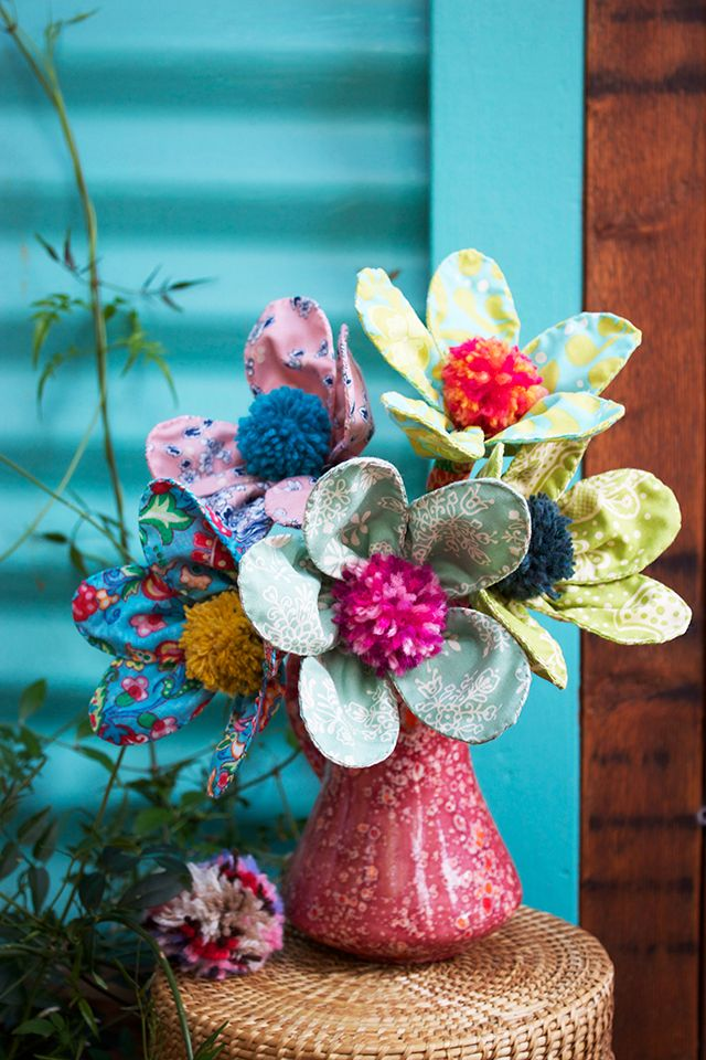 I think I'm a little addicted to pom poms, so I love to think of ways to use them in my craft projects. For these pom pom flowers you...