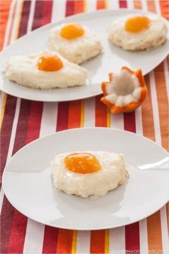 Das beste Rezept für Spiegeleikuchen auf dem Blech, dem Klassiker für Ostern und das Backen mit Kindern. Mit Aprikosen und Quark sieht er echt täuschend aus