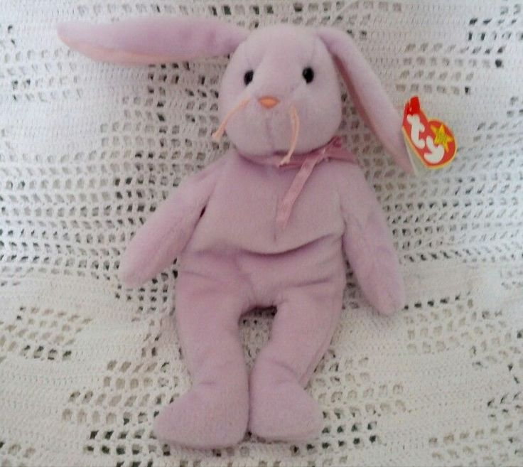 Ty Original Beanie Babies Retired Floppity the Purple Bunny Rabbit 1996 MWMT 3+ #Ty