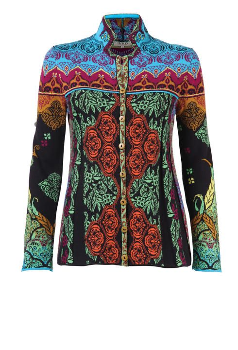 Jacket, Ornament Pattern - Jacket | Ivko Woman