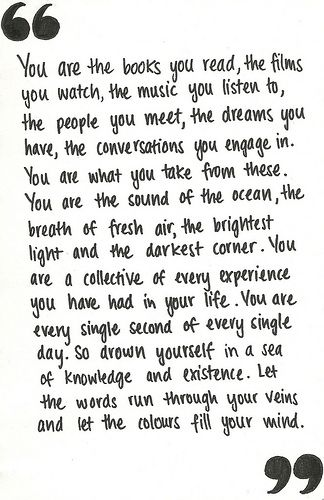 You are...Film, Life, Inspiration, Quotes, The Ocean, Beautiful, Wisdom, Book, Living